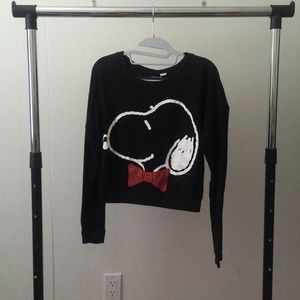 Forever 21 Snoopy Long Sleeve Top